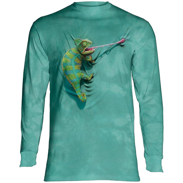 Climbing Chameleon Adults Long Sleeve T-Shirt