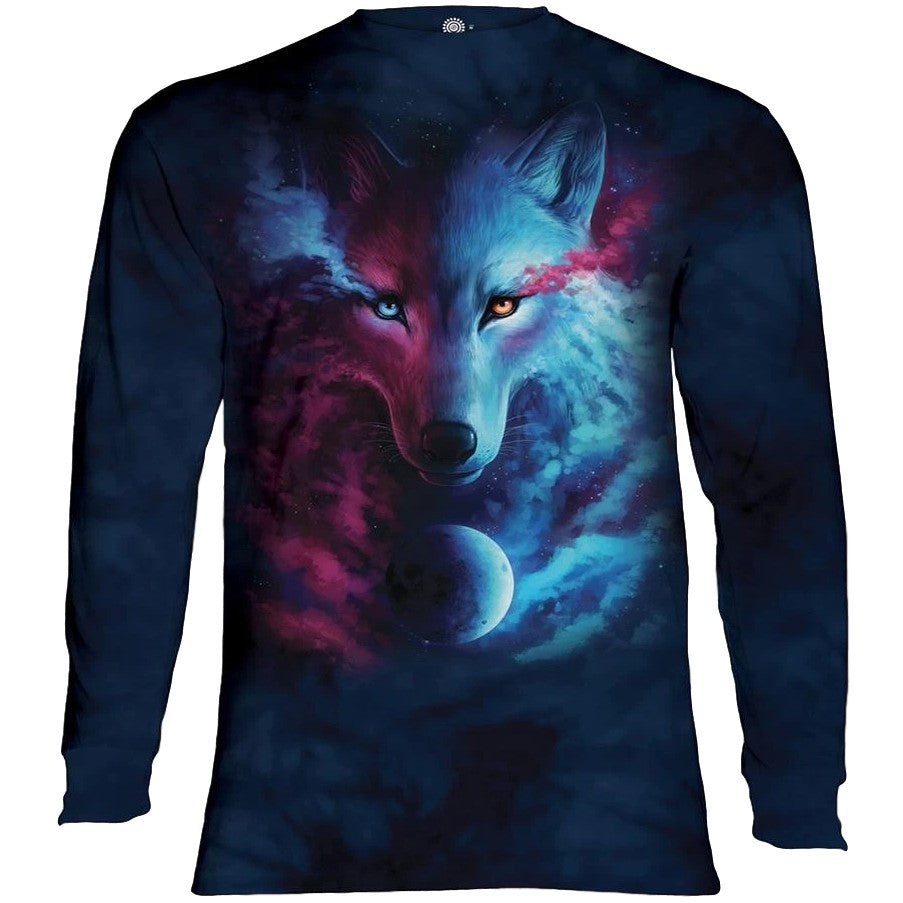 Where Light & Dark Meet Wolf Adults Long Sleeve T-Shirt