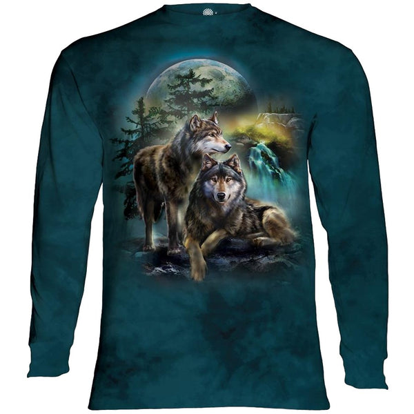 Wolf Lookout Adults Long Sleeve T-Shirt