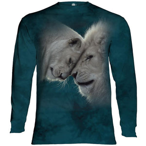 White Lions Love Adults Long Sleeve T-Shirt
