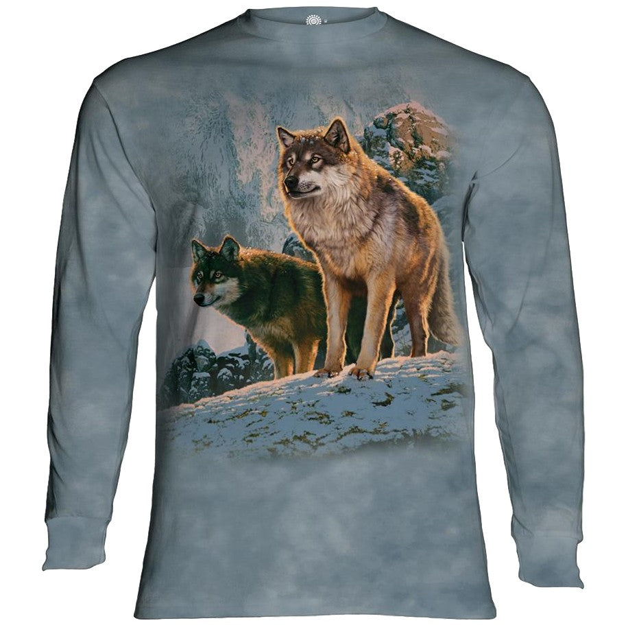 Wolf Couple at Sunset Adults Long Sleeve T-Shirt