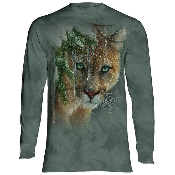 Frozen Cougar Adults Long Sleeve T-Shirt