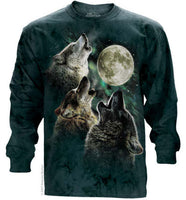 Three Wolf Moon Adults Long Sleeve T-Shirt