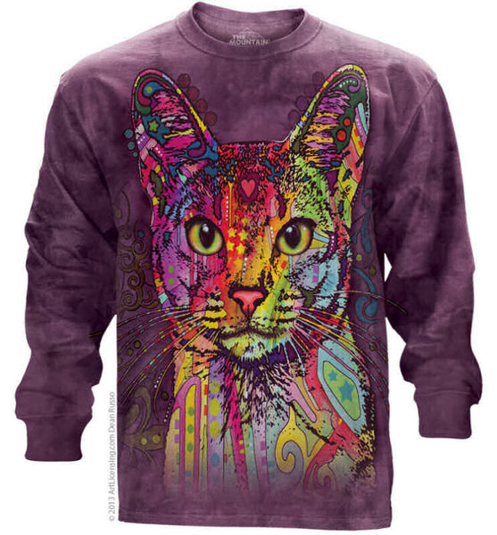 Abyssinian Cat Adults Long Sleeve T-Shirt