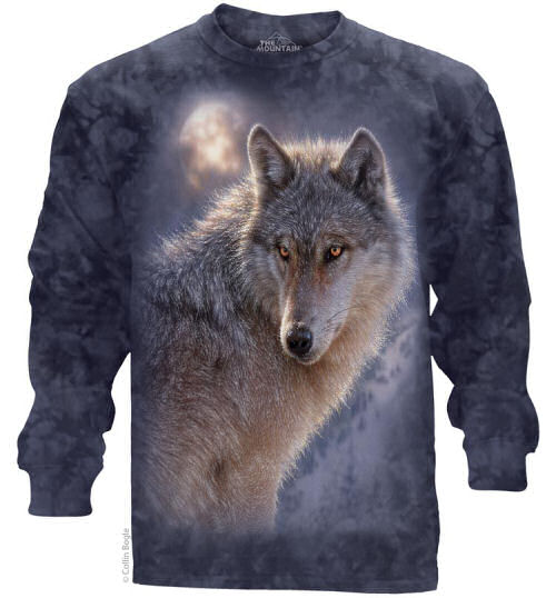 Adventure Wolf Adults Long Sleeve T-Shirt