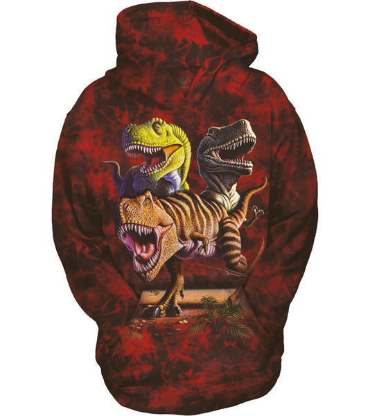 Rex Collage Dinosaur Childrens Hoodie