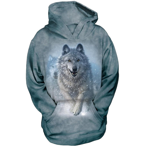 Snow Plow Wolf Face Childrens Hoodie
