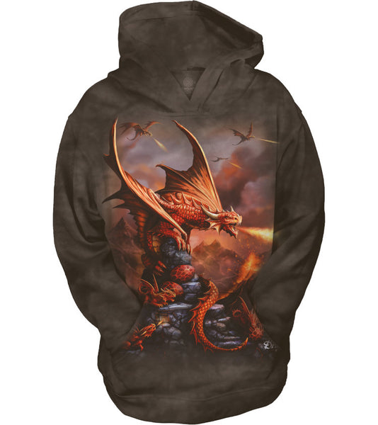Fire Dragon Childrens Hoodie