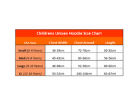 The Mountain Hoodies Size Chart (Kids Unisex Style)