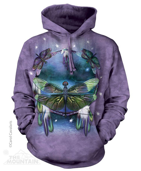 Dragonfly Dreamcatcher Adults Size Hoodie