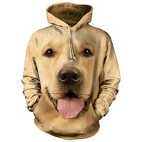 Golden Retriever Face Adults Hoodie