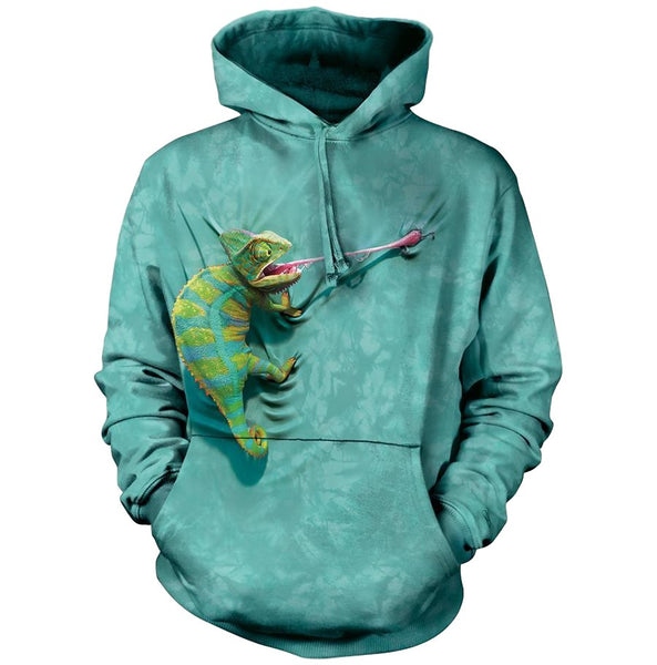 Climbing Chameleon Adults Hoodie
