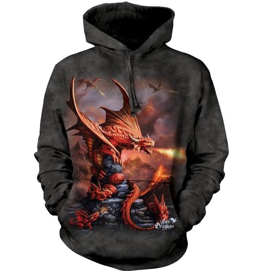 Fire Dragon Adults Hoodie