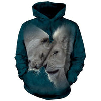 White Lions Love Adults Hoodie
