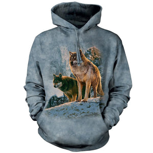 Wolf Couple at Sunset Adults Hoodie