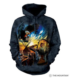 Eagle Prayer (Blessings of Peace) Adults Hoodie