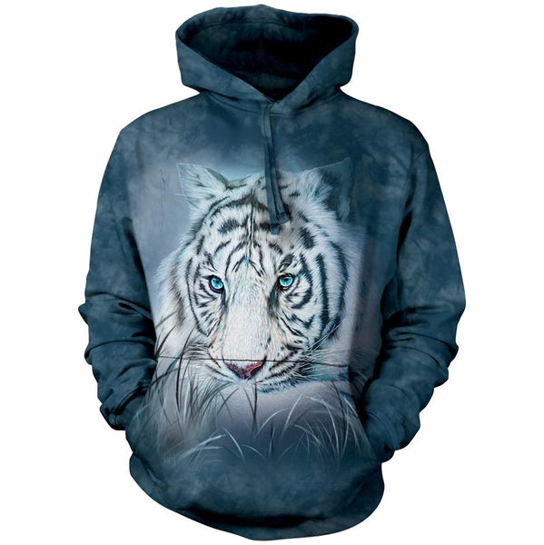 Thoughtful White Tiger Adults Hoodie