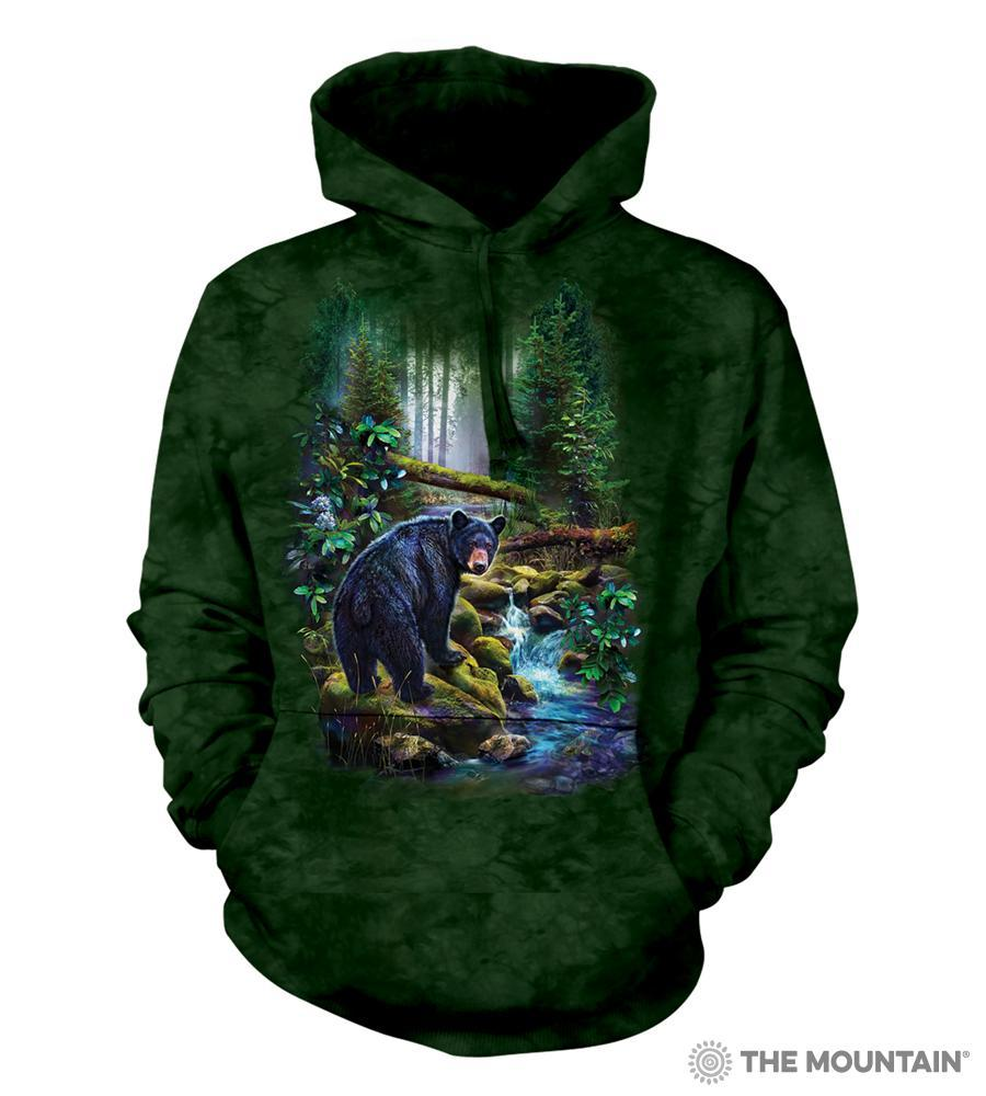Black Bear Forest Adults Hoodie