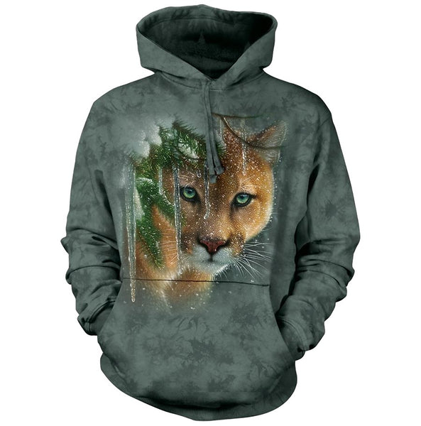 Frozen Cougar Adults Hoodie