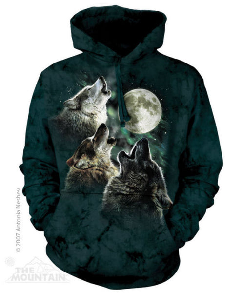 Three Wolf Moon Adults Hoodie