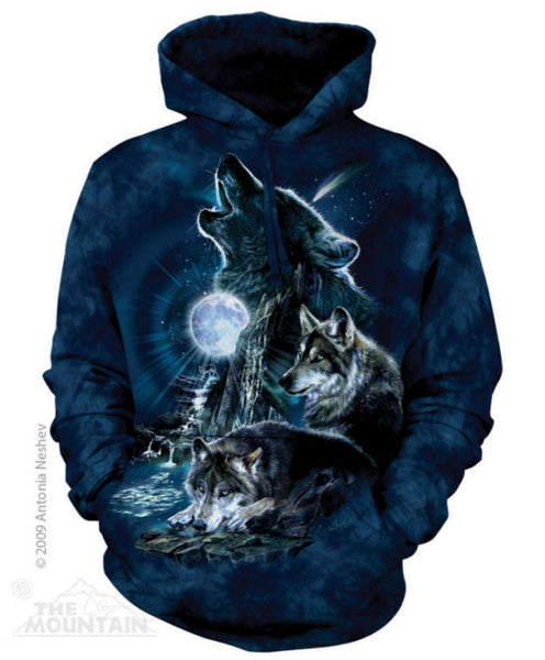 Bark at the Moon Wolf Adults Hoodie