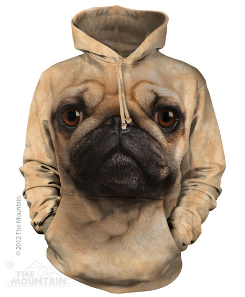 Pug Face Adults Hoodie