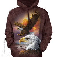 Eagle & Clouds Adults Hoodie