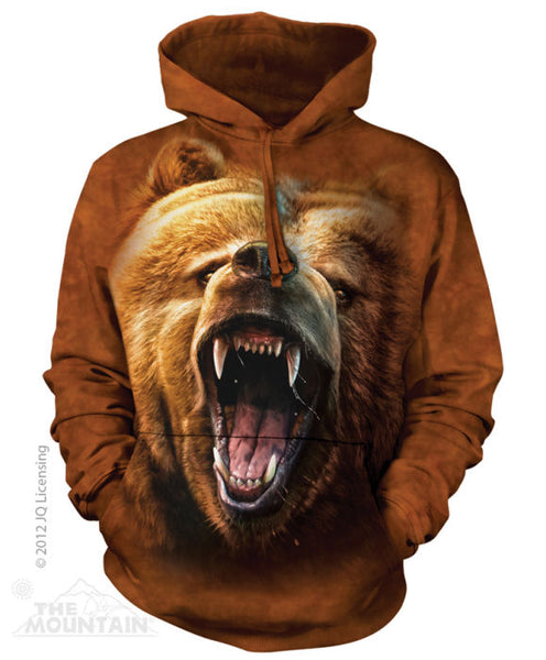 Grizzly Bear Growl Adults Hoodie