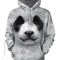 Big Face Panda Adults Hoodie