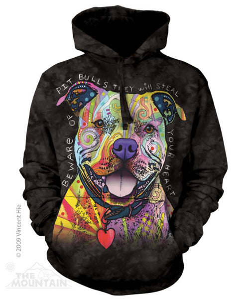Pitbulls Will Steal Your Heart Adults Hoodie