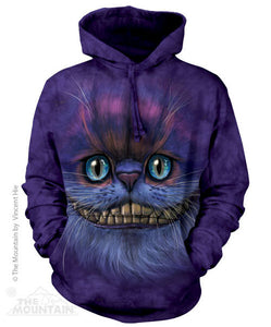 Cheshire Cat Face Adults Hoodie