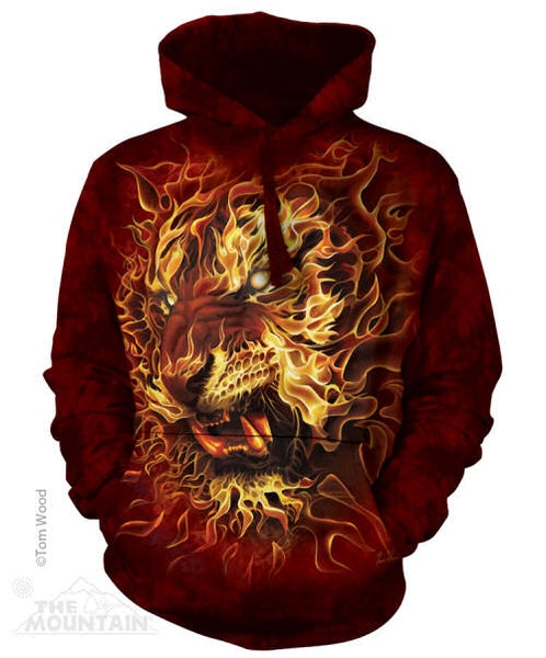 Fire Tiger Adults Hoodie