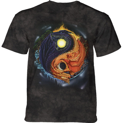 Yin Yang Dragons Adults T-Shirt