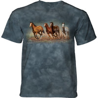 Fly Away Horses Adults T-Shirt