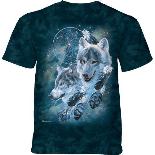 Dreamcatcher Wolf Collage Adults T-Shirt