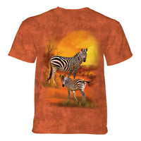Mama and Baby Zebra Childrens T-Shirt