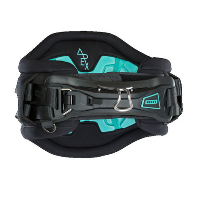 2019 ION Apex 7 Kiteboarding Harness Black Blue Front Canada