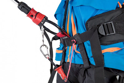 Ozone Connect Backcountry harness chicken loop and leash
