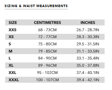Ozone Water Connect Harness Size Chart