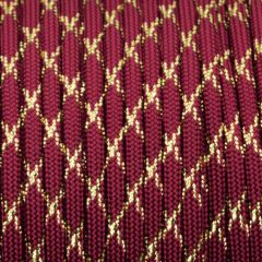 550 Paracord Burgundy with Gold X
