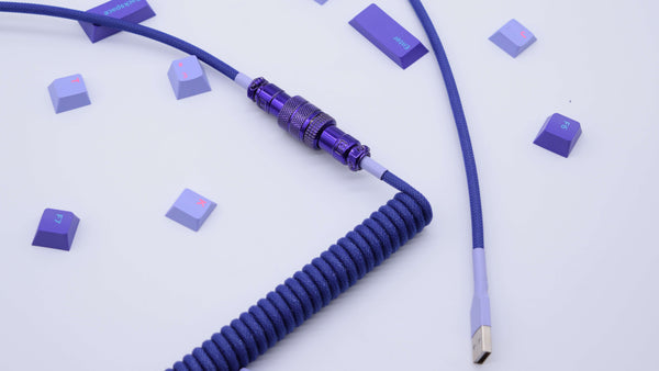 Lavender Vaporwave Coiled Aviator Cable