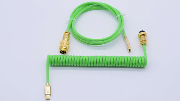 Neon Green Gold Aviator Custom keyboard cable
