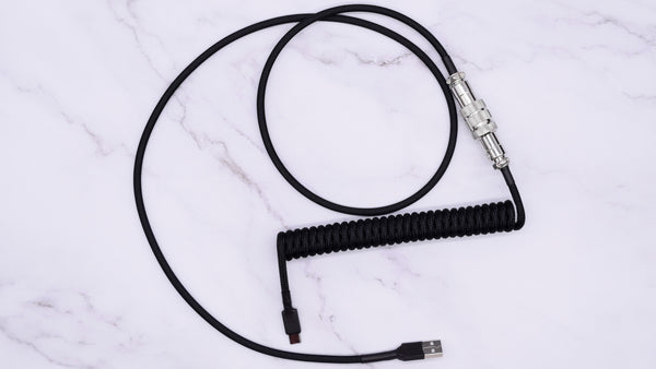 Mechcables black with silver aviator custom cable