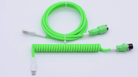 Neon Lime Green Mechanical Keyboard Cable