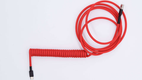 Red custom keyboard cable