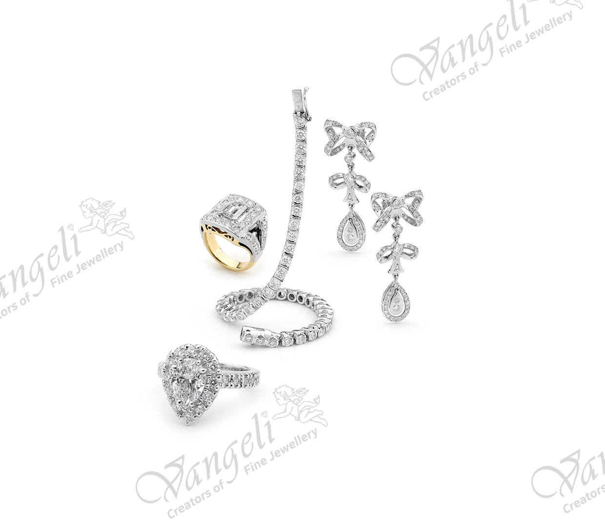 18ct gold and platinum hand-made jewellery