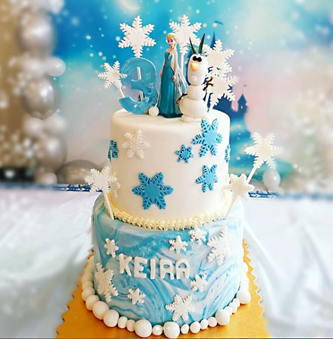 Frozen 2 tier cake