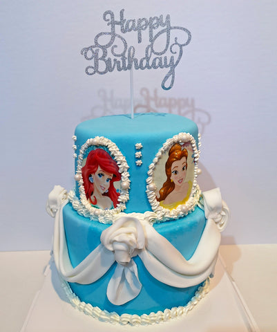 2 tier princess custom cake