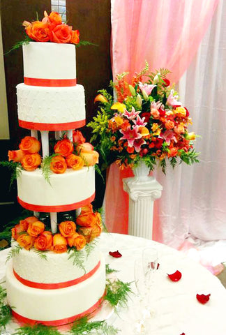 5-tier-wedding-cake-orange-real-flower