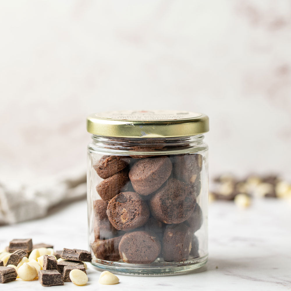 White Chip Chocolate Cookies in-a-Jar